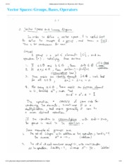Vector Spaces Notes