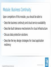 07_Module 7 Business Continuity  78