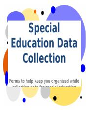 SpecialEductionDataCollectionForms.doc