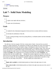 Lab 7 - Solid State Modeling