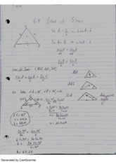 6.4 law of sines
