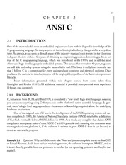 Chapter 2 - ANSI C Reference