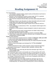 Reading Assigment 1