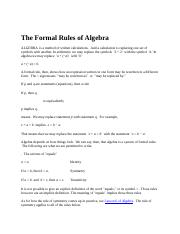 The Formal Rules of Algebra.docx