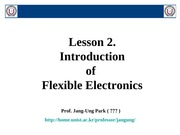 Flexible electronics_Lesson 2