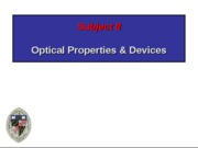 Subject 8 Optical properties