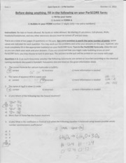 chem 420 exam 1 w answers Page 1 of 16 chemistry 420/520 – principles of biochemistry 21, 22 + third exam review tuesday, december 1 third examination - 10 lectures chem 420/520, as.
