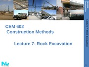 Lecture 7- Rock Excavation