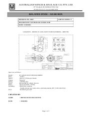 RELATED ITEM - GEAR BOX - BREVINI