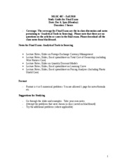 Study Guide for final Exam - MGSC 487
