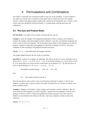 Sum and Product Rule