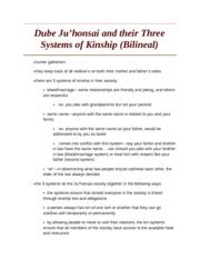 Dube Juhonsai and their Three Systems of Kinship (Bilineal)