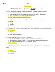 quiz 4 Answer Key