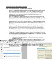 Chapter 1 The Manager and Management Accounting.docx