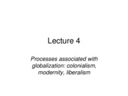 Lecture 4_Processes associated with globalization