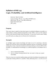 Syllabus of PHI 133 Logic, Probability, and Artificial Intelligence.pdf
