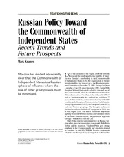 Kramer_Russian Policy Toward the CIS