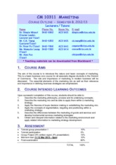 CM10311Course outline January 2013 (student version)