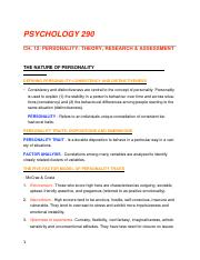 PSYCH290-CH12 - Personality.docx