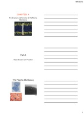 The Structure and Function of the Plasma Membrane_Ch 4_handout