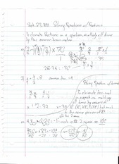 Steps for Solving Equations and Solving Fractions Notes
