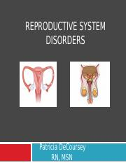 19  Reproductive System Disorders, dr.evens