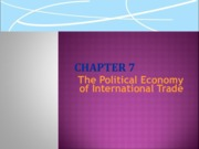 Lecture 3 The Political Economy of International Trade