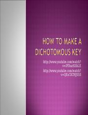 How to Make a Dichotomous Key (1).ppt