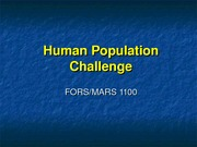 Population & Food Supply - fors