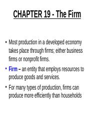 Chapter 19  The Firm _2015