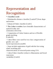 Representation and Recognitio1