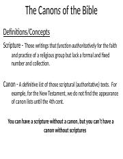 Canons of the Bible work.pptx