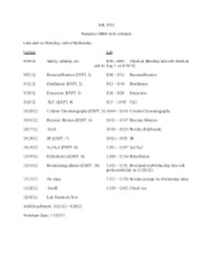 Tentative lab schedule 301 Fall 2012 Wednesday lab lecture(1)