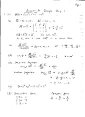 Quiz A Sample Solutions on Calculus