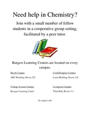 Tutoring Free Chem Learning Centers Sp 11