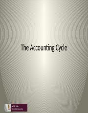 Class 1 Accounting Cycle