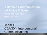 Effective Communication of Police Officers