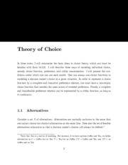 theory choice notes