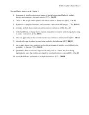 SY 408 Chapter 3 - True or False - Shamika Odom.docx