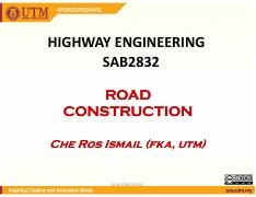 Method Statement road - Method Statement-Roadworks 1 0 OBJECTIVE