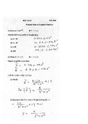 fall 2010 sample quiz complex numbers