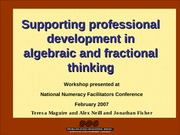 supporting_PD_in_algebraic_and_fractional_thinking_2007