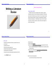 Writing a Literature Review (2016-2017) (1)