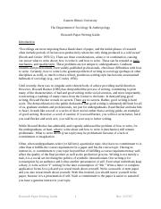 Culteral anthropology research papers