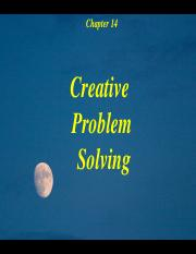 1.  Chapter 14 Creative Problem Solving Power Points
