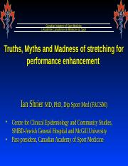 Truths, Myths and Madness of stretching for perfromance enhancement (acsm no pics).ppt