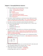SIBEX13_CH01 Conceptual Review Answers
