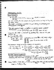 Dot-Product Notes