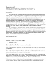 Experiment 5-Computational Chemistry-2015