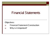 Financial Statements Lecture to post